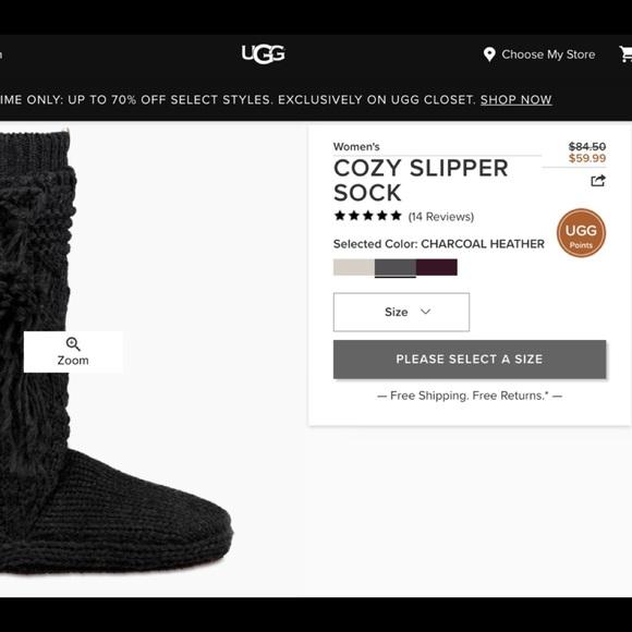 9783d49c7ef Ugg cozy slipper socks NWT